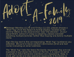 Flyer for school district Adopt-a-Family 2019 program.
